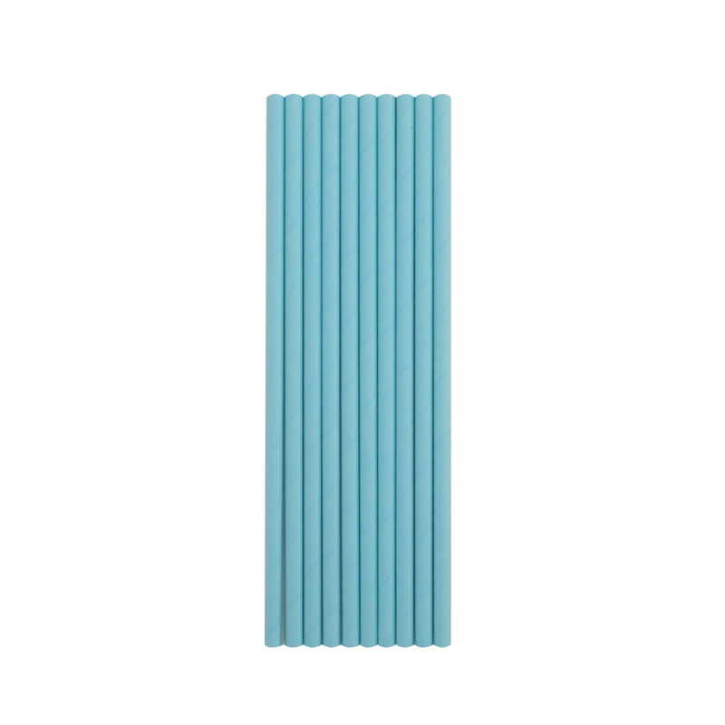 Baby Blue Paper Straws