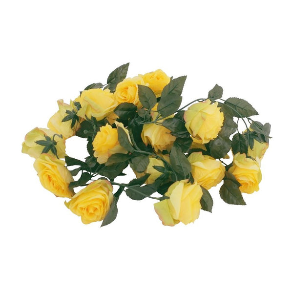 Silk Rose Flower Garland (Yellow)