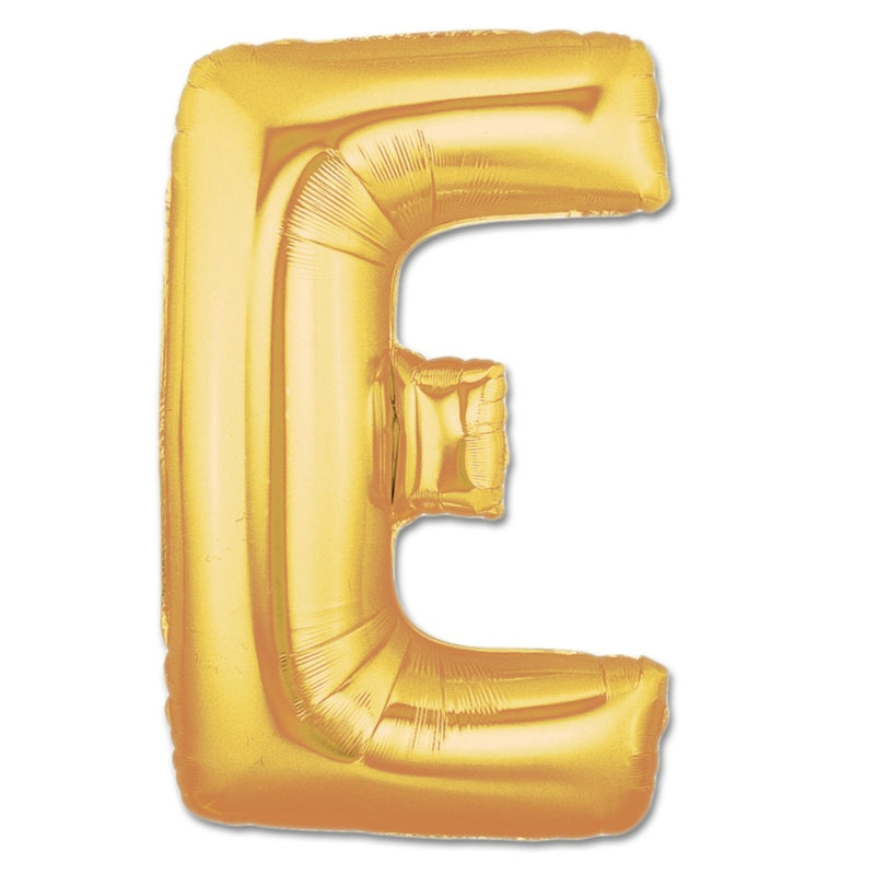 E Letter Giant Gold Balloon â 30 Inch