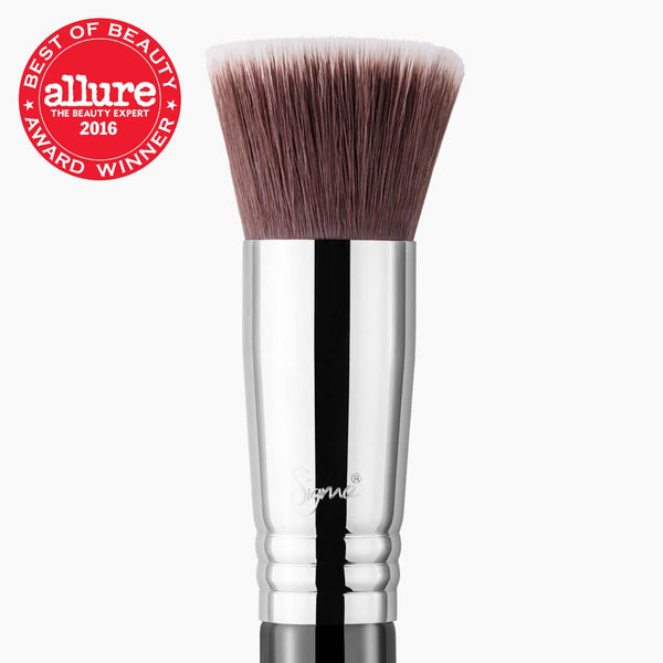 Sigma Beauty- F80 Flat Kabuki Brush - Black/ Chrome