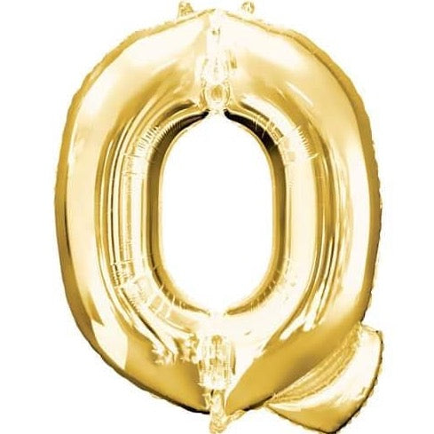 Q Letter Gold Giant Foil Balloon 40 Inch