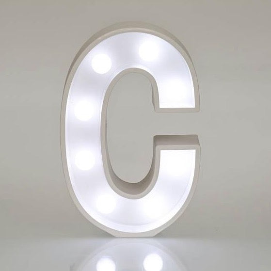 Light Up Letters & Symbols - C