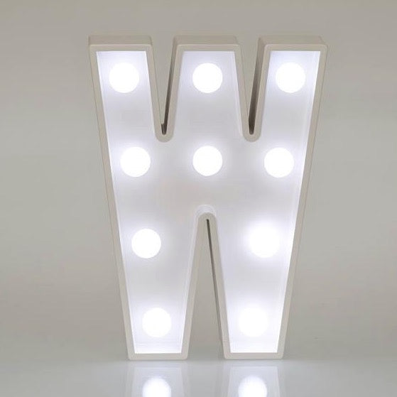 Light Up Letters & Symbols - W