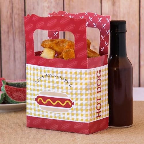 Hot Dog Favor Box ( Pack Of 20 )