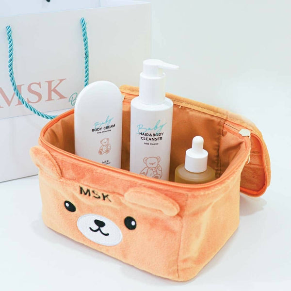 MSK Kids Set with teddy bag