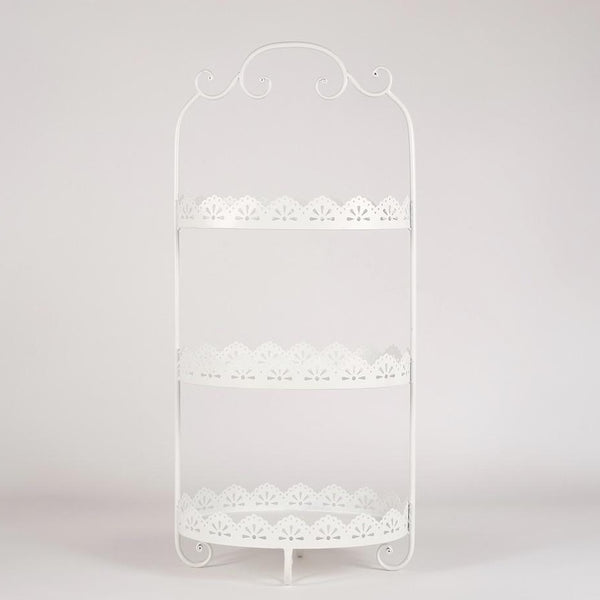 Three layers Afternoon tea stand - white