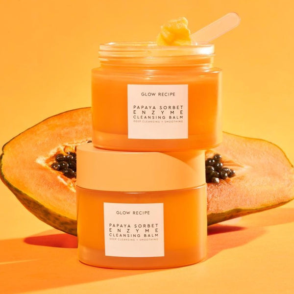 GLOW RECIPE Papaya Sorbet Enzyme Cleansing Balm( 100ml )