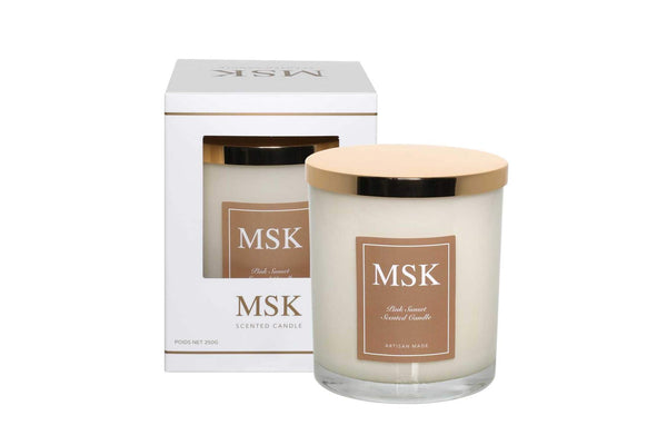 MSK - pink sunset scented candle