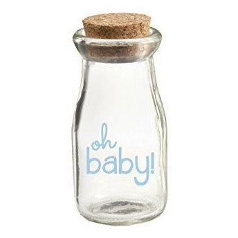 Kate Aspen Blue Oh Baby Milk Jar ( 12 Pack )