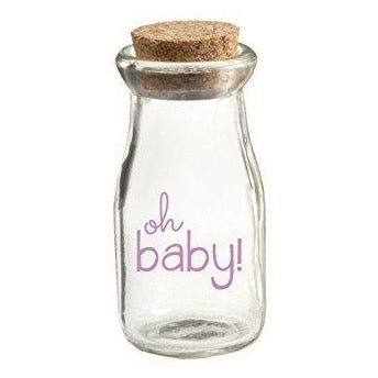 Kate Aspen Pink Oh Baby Milk Jar ( 12 Pack )