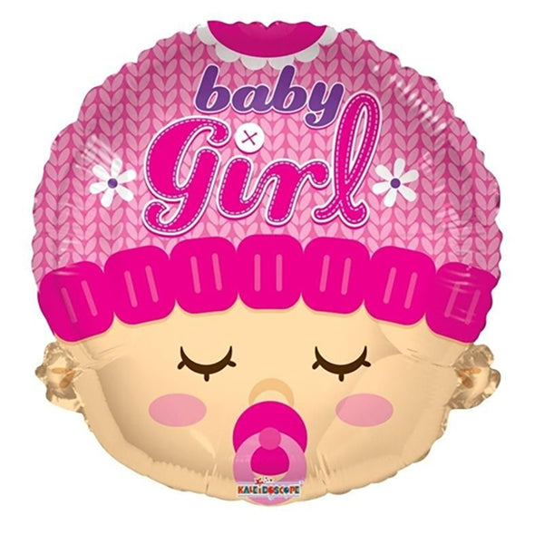 Baby Girl Face Foil Balloon