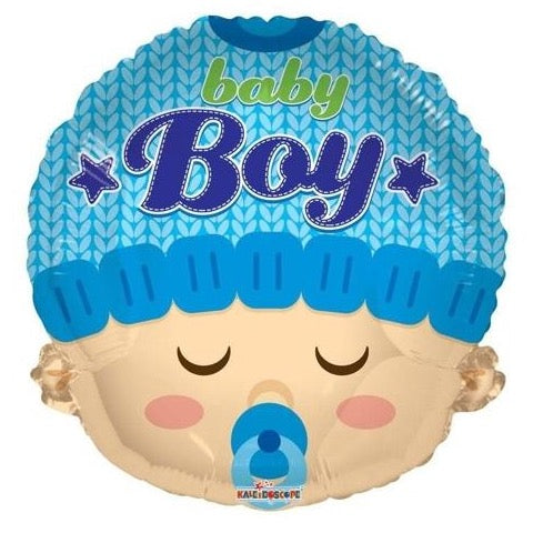 Baby Boy Face Foil Balloon