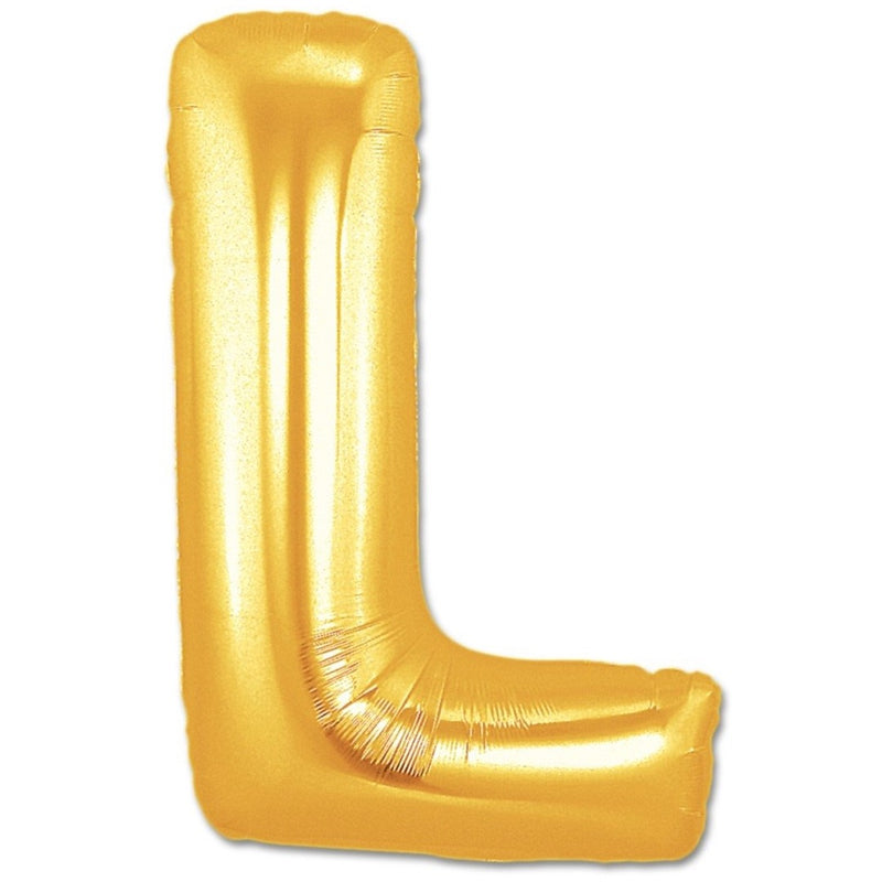 L Letter Giant Gold Balloon â 30 Inch