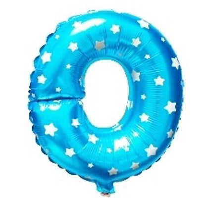 O Letter Blue Stars Balloon â 16 Inch