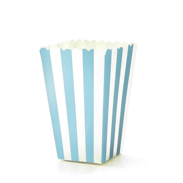 Stripes Popcorn Boxes - Blue -