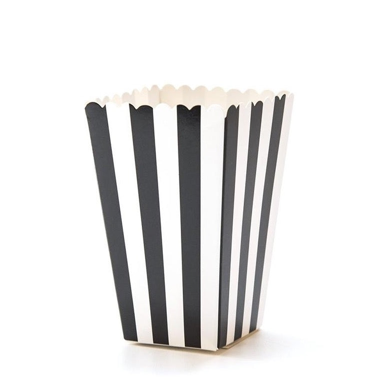 Stripes Popcorn Boxes - Black -