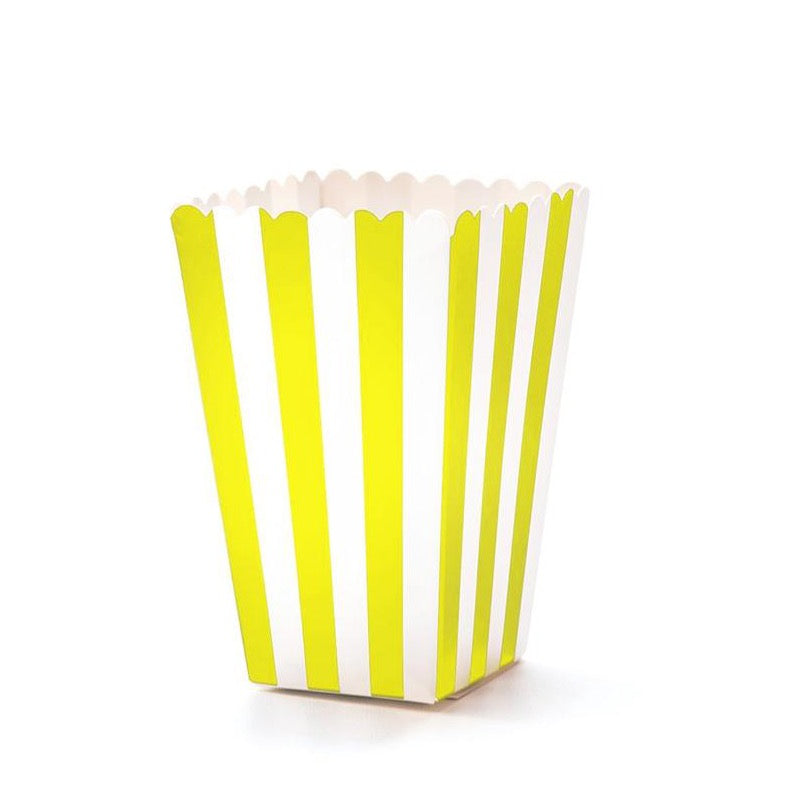 Stripes Popcorn Boxes - Yellow -