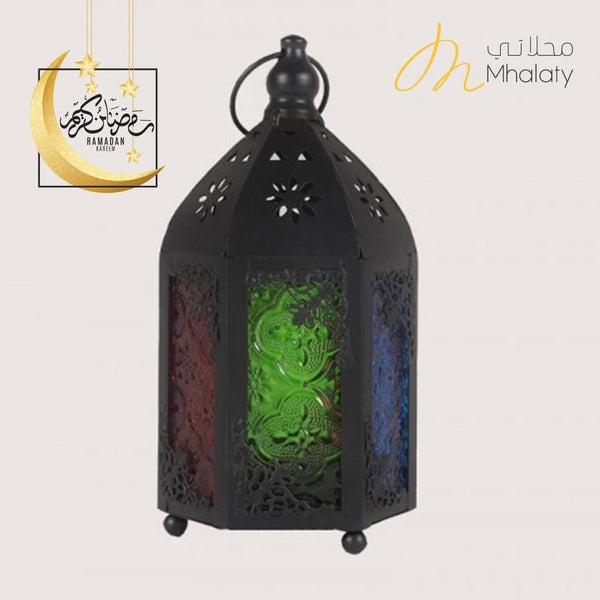 Small Black Colored Doors Lantern