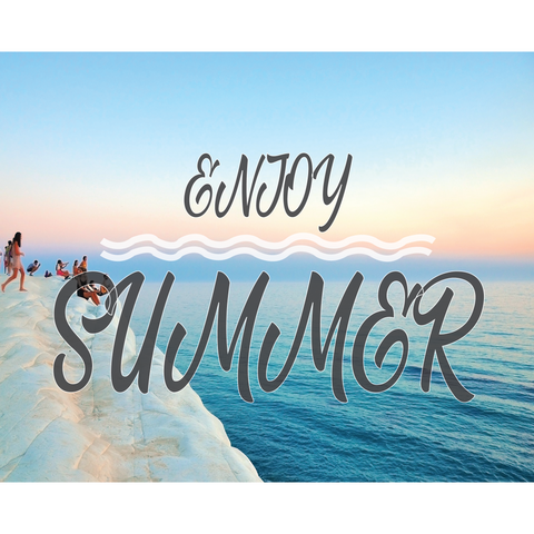 Enjoy Summer Throw Blanket