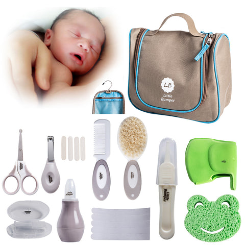 Little Bumper Baby Healthcare Grooming Bath Set with Storage Bag