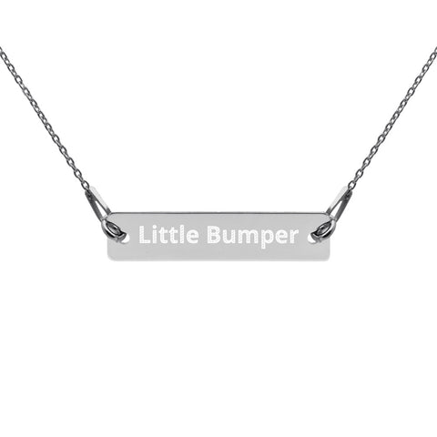 Personalized Engraved Silver Bar Chain Necklace