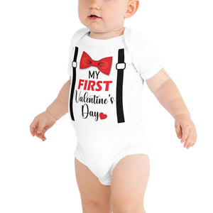 Little Bumper 3-6m My First Valentine's Day Baby Body Suit