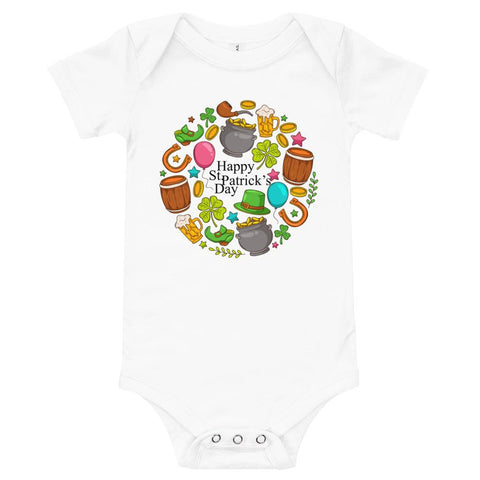 "Little Bumper 6-12m ""Get Some Luck"" St. Patrick's Day Baby Bodysuit"