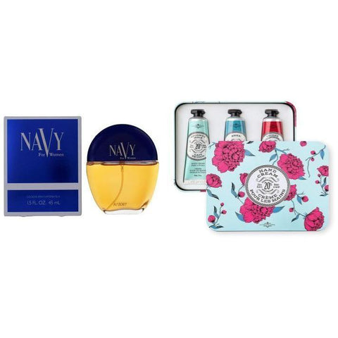 Little Bumper Accessories 2-Pack Dana Navy Perfume For Women & Travel Size Shea Butter Hand Cream Gift Set (Coconut Milk, Shea, Lychee Cranberry)
