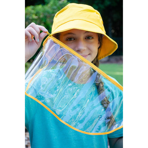 Image of Little Bumper Accessories Cotton Outdoor Protective Hats with Detachable Face Shield