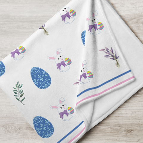 Little Bumper Accessories Easter Egg Throw Blanket