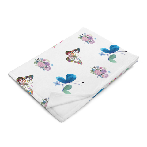 Little Bumper Accessories Floral Butterfly Throw Blanket