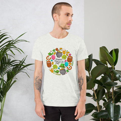 Image of Little Bumper Ash / S Happy St. Patrick's Day Short-Sleeve Unisex T-Shirt