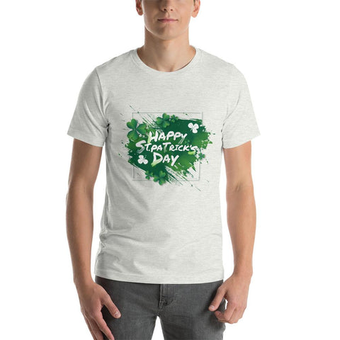 "Image of Little Bumper Ash / S ""Happy St. Patrick's Day"" Short-Sleeve Unisex T-Shirt"