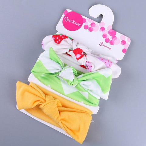 Little Bumper Baby Accessories B / United States Floral Bow baby headbands 3Pcs.