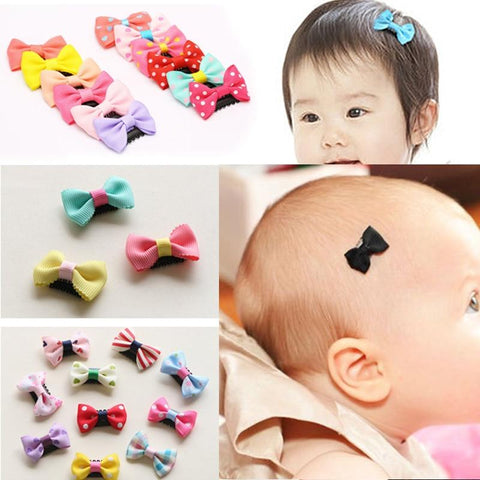 Image of Little Bumper Baby Accessories Baby Girls Scarce Hair Clips 10Pcs/Pack