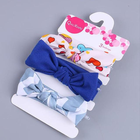 Little Bumper Baby Accessories K / United States Floral Bow baby headbands 3Pcs.