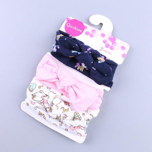 Little Bumper Baby Accessories L / United States Floral Bow baby headbands 3Pcs.