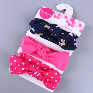Little Bumper Baby Accessories O / United States Floral Bow baby headbands 3Pcs.