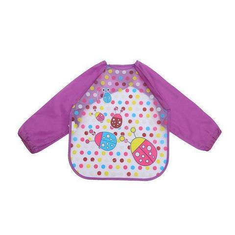 Little Bumper Baby Bibs 3 / United States / 40x36cm Waterproof Colorful Baby Bibs with Full Sleeves