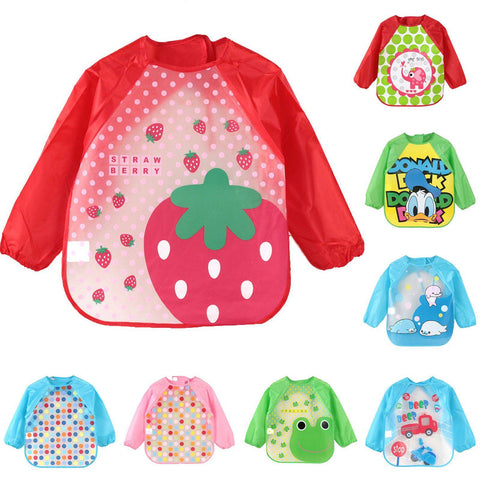 Image of Little Bumper Baby Bibs Waterproof Colorful Baby Bibs with Full Sleeves