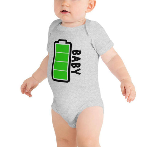 Little Bumper Baby Bodysuit Athletic Heather / 3-6m Baby Battery Family Matching Baby Bodysuit