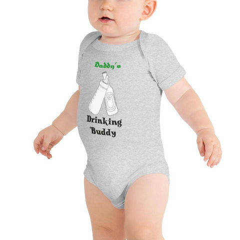 Image of Little Bumper Baby Bodysuit Athletic Heather / 3-6m Daddy's Drinking Buddy Baby Bodysuit