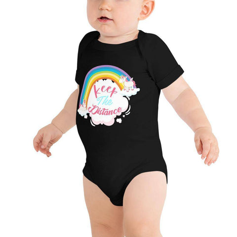 Image of Little Bumper Baby Bodysuit Black / 3-6m Keep the Distance Baby Bodysuit