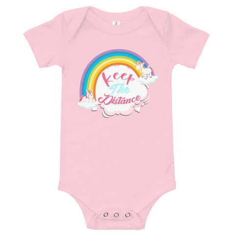 Image of Little Bumper Baby Bodysuit Keep the Distance Baby Bodysuit