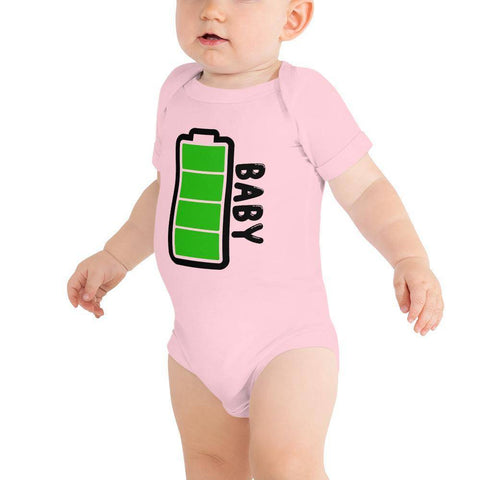 Little Bumper Baby Bodysuit Pink / 3-6m Baby Battery Family Matching Baby Bodysuit
