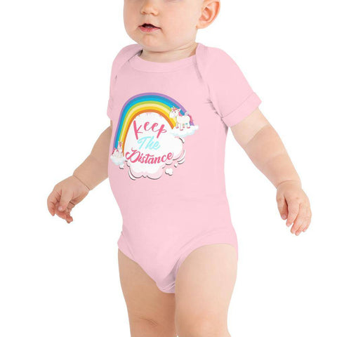 Little Bumper Baby Bodysuit Pink / 3-6m Keep the Distance Baby Bodysuit