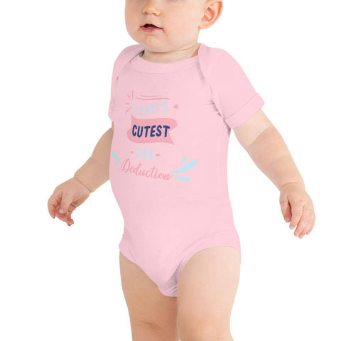 Image of Little Bumper Baby Bodysuit Pink / 3-6m World's Cutest Tax Deduction Baby Bodysuit
