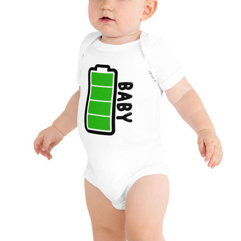 Little Bumper Baby Bodysuit White / 3-6m Baby Battery Family Matching Baby Bodysuit