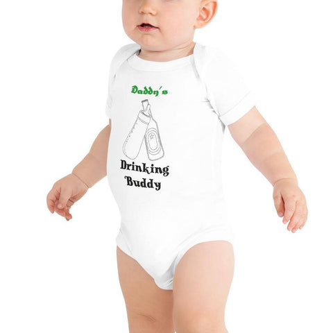 Image of Little Bumper Baby Bodysuit White / 3-6m Daddy's Drinking Buddy Baby Bodysuit