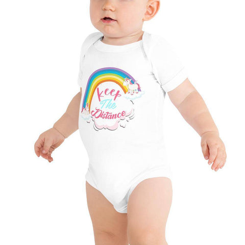 Little Bumper Baby Bodysuit White / 3-6m Keep the Distance Baby Bodysuit